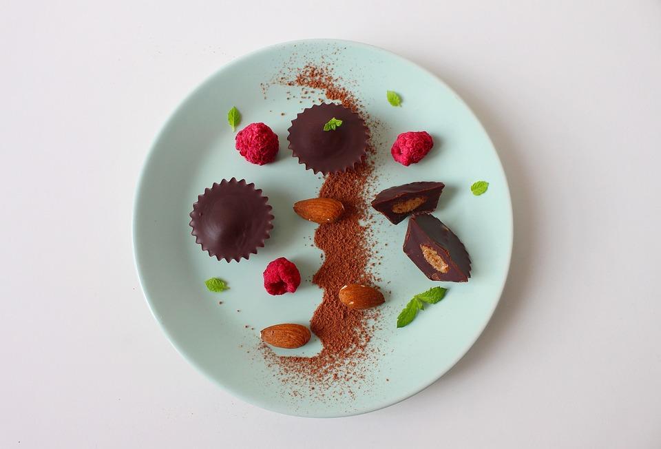 Chocolate, Candy, Dessert, Gastronomy, Mint, Blueberry