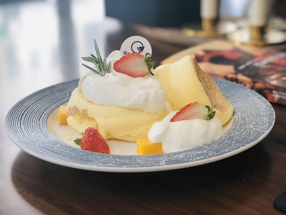 Cream, Soufflé, Dessert, Afternoon Tea