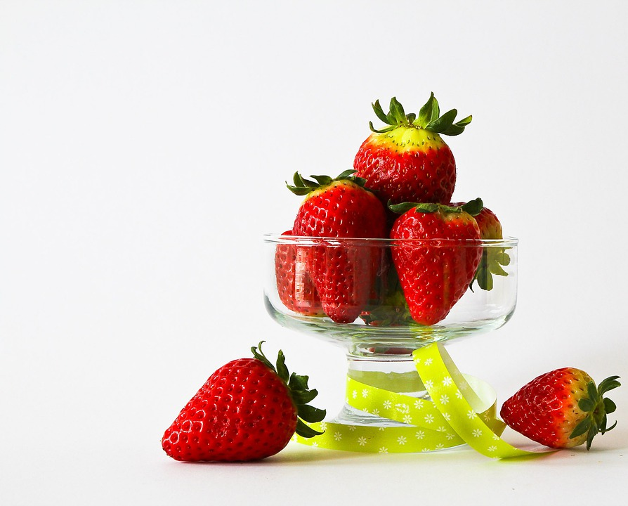 Fruits, Strawberries, Fruit, Red, Dessert, Decorated