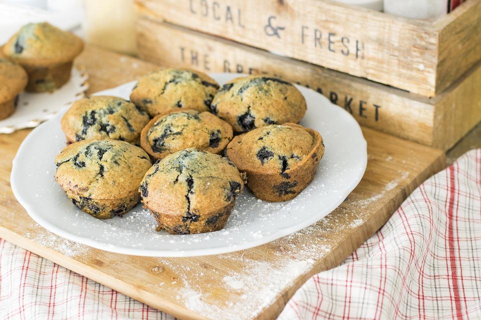 Blueberry Muffins, Muffins, Cupcakes, Dessert, Food