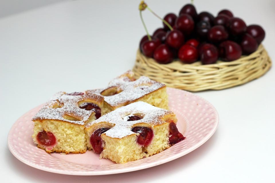 Pie, Cherry Cake, Cherry Pie, Dessert, Homemade, Food