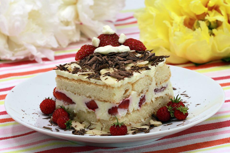Strawberry, Tiramisu, Dessert, Spring, Fruit