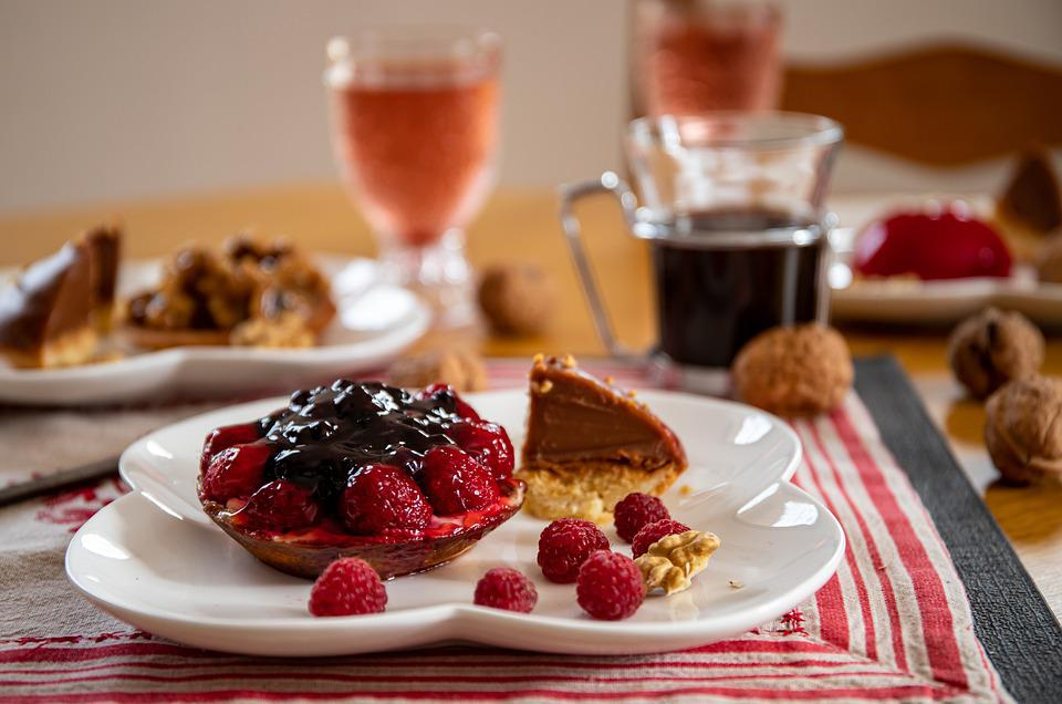 Dessert, Food, Tart, Pie, Raspberries, Pastry, Baked