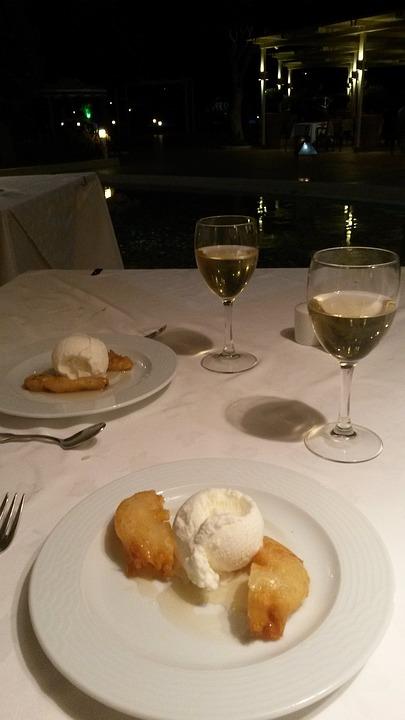 Atmosphere, Romantic, Food, Dessert, Wine, Glass