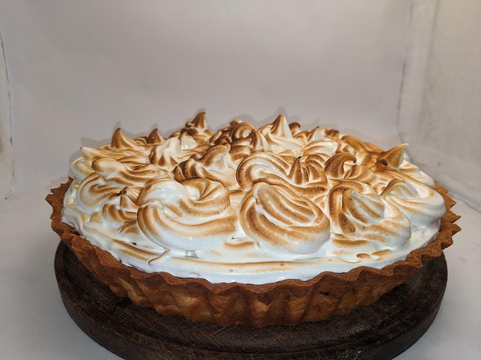 Pie, Lemon, Meringue, Sweet, Dessert, Sugar, Yellow