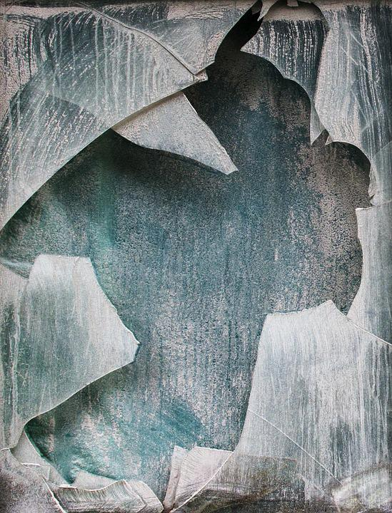 Destruction, Crushed, Glass Mosaic, Powder, Window