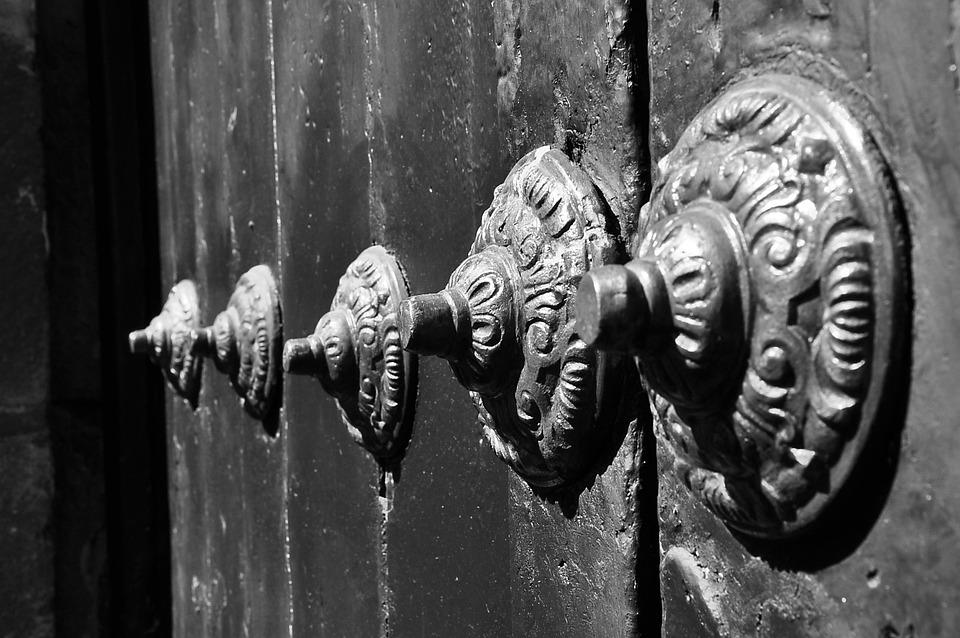 Detail, Door, Iron, Forging, Hand, Input, Backlight