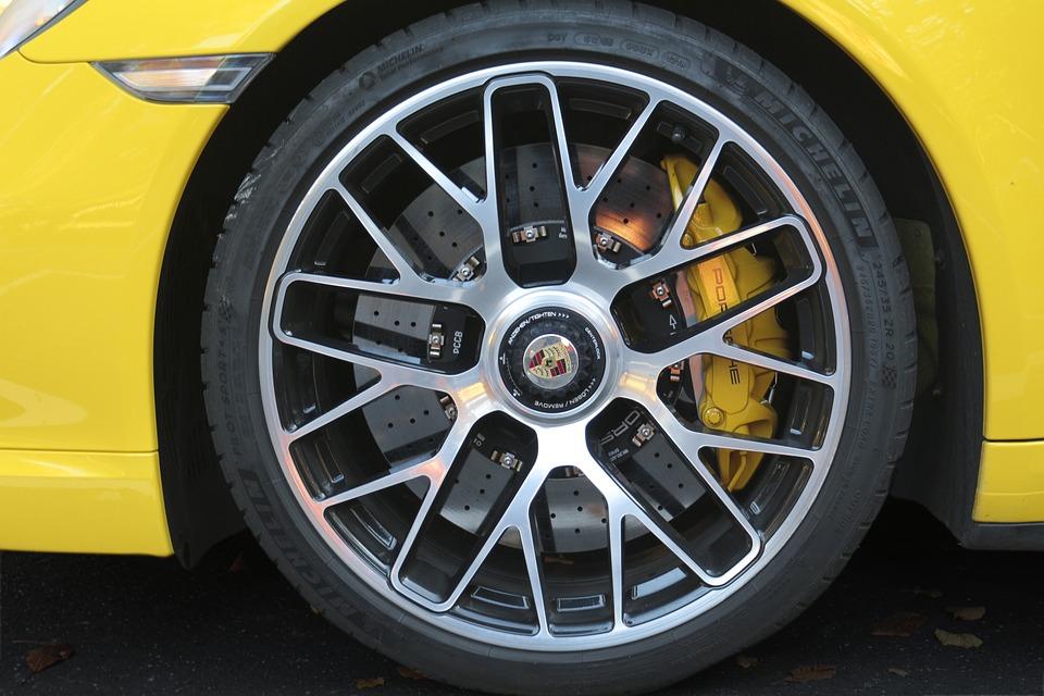 Car Wheel, Porsche, Detail, Vehicle, Luxury, Racing