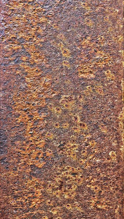 Metal, Weathered, Rusty, Auburn, Detail, Background