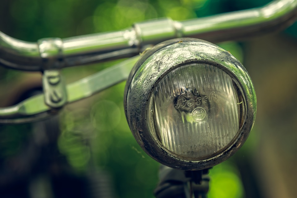 Bike, Lamp, Wheel, Old, Cycle, Close Up, Detail, Retro
