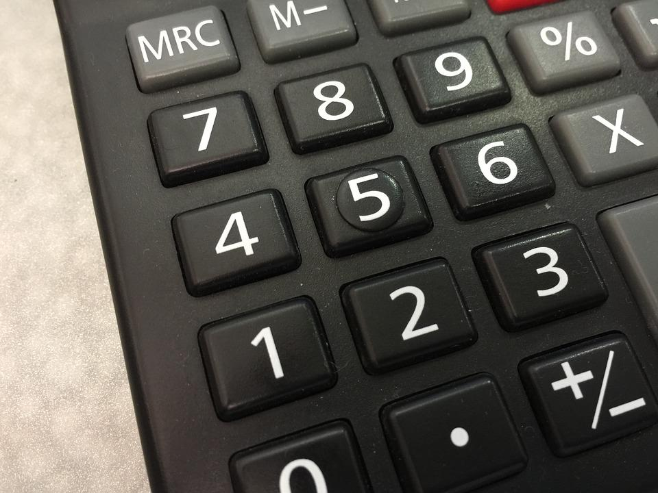 Calculator, Black, Number, Buttons, Tell, Device