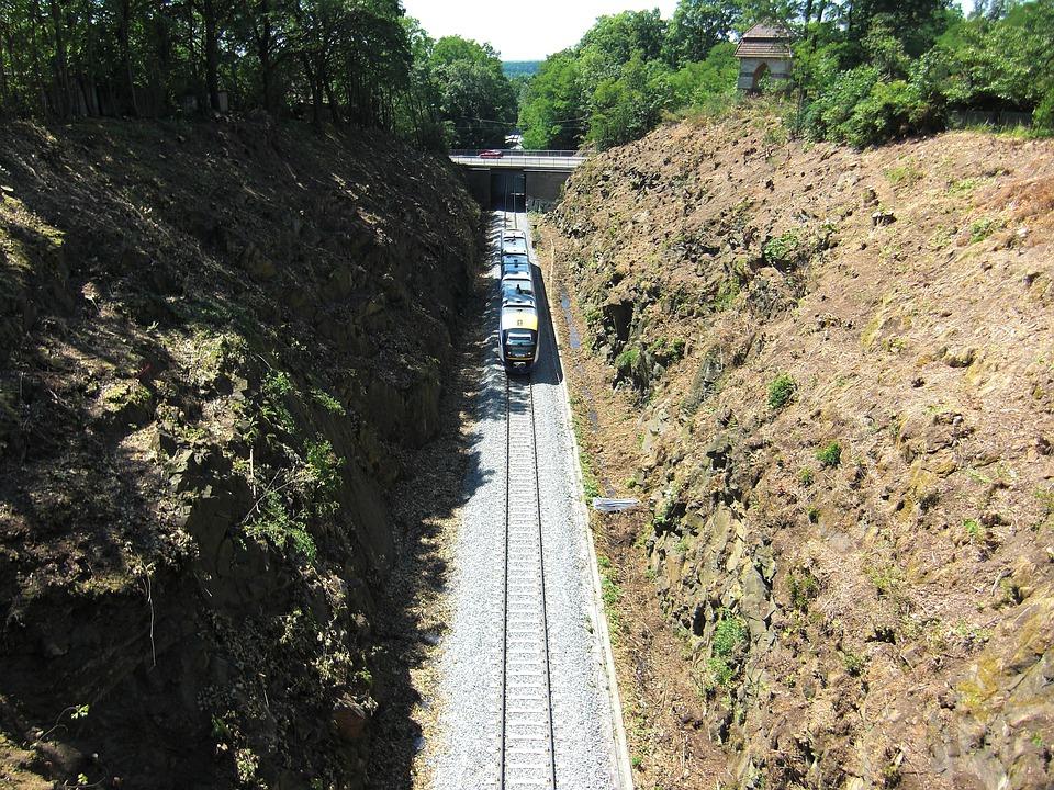 Görlitz, Devil's Bridge, Train, Traffic, Railway, Track