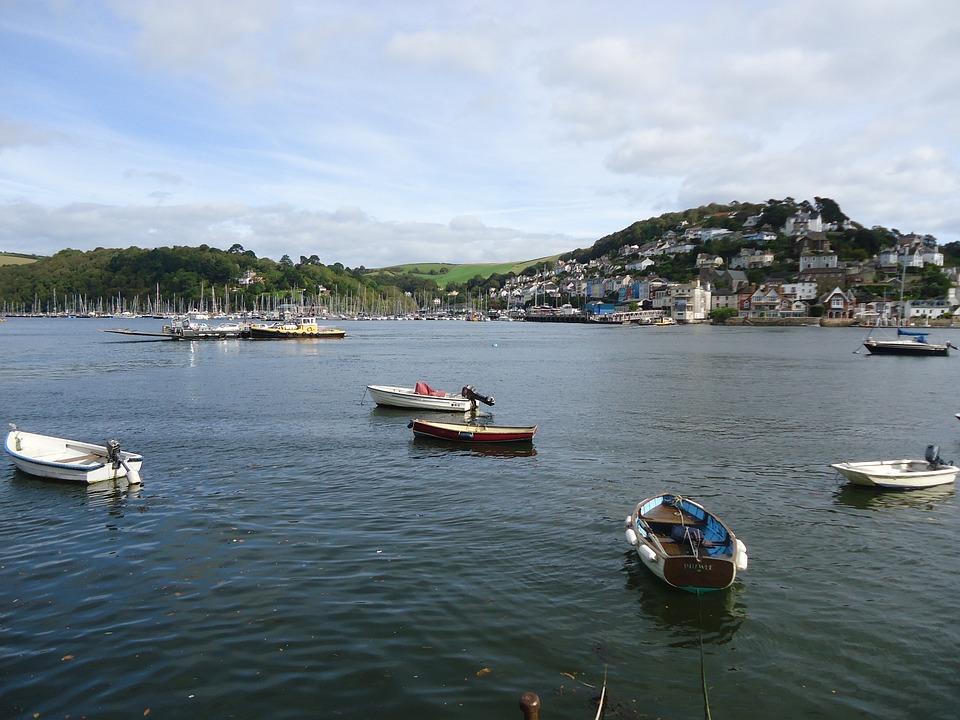 Dartmouth, England, Boats, Devon, Kingswear, Coast