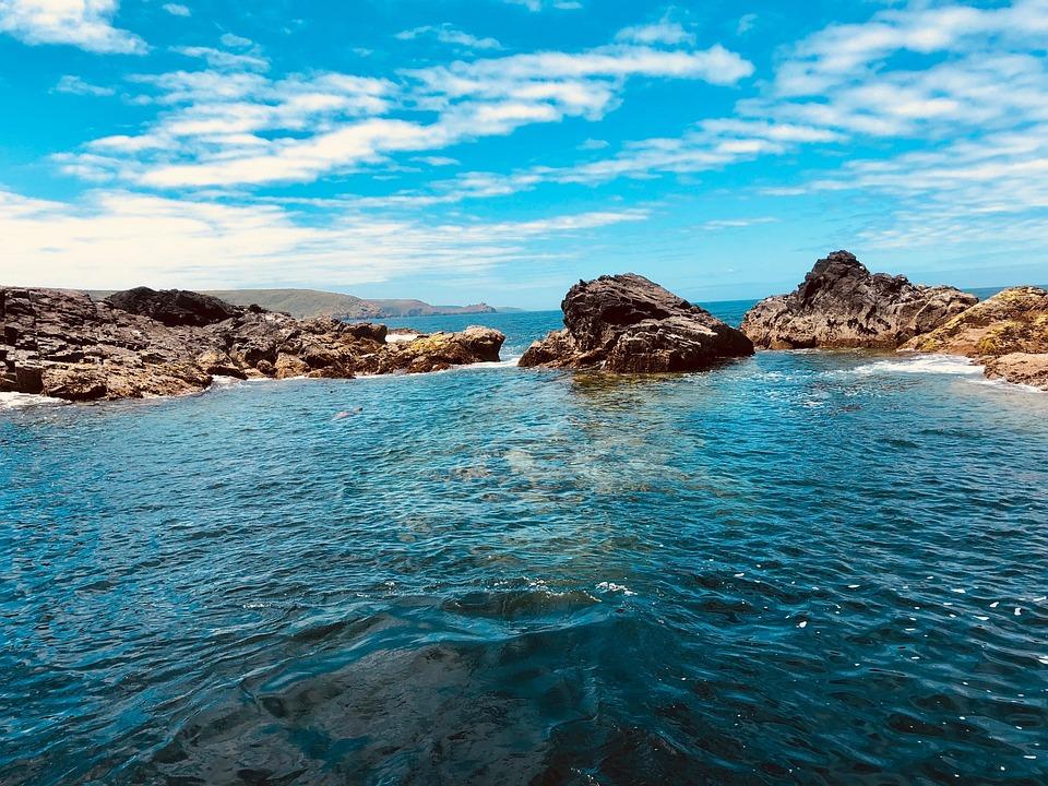 Water, St Ives, Cornwall, Devon, Seal Island, Sea