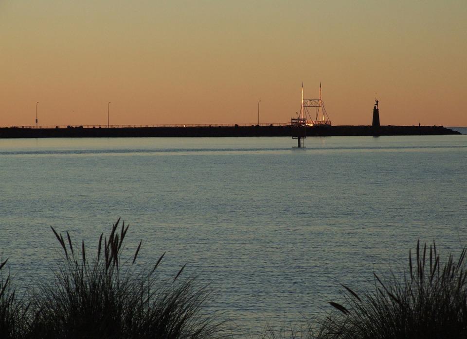 Sunset, Devonport Tasmania, Australia, Calm, Coast