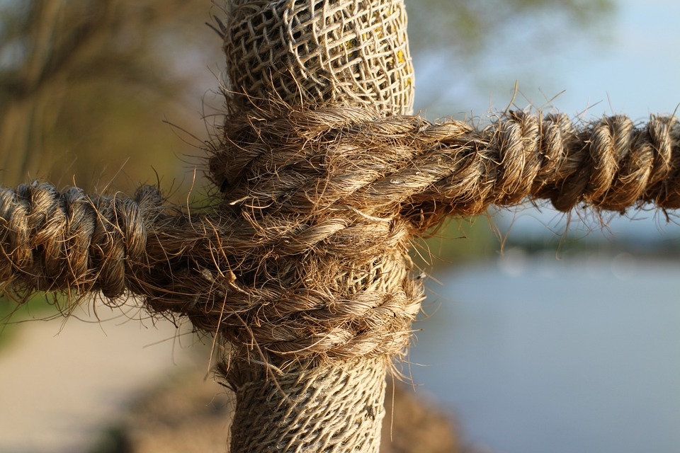 Dew, Rope, Twisted Ropes, Strand, Connection, Woven