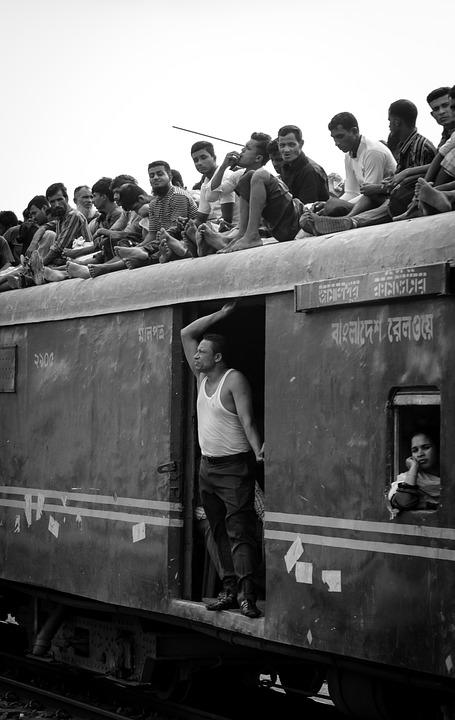 People, Bangladesh, Dhaka, Train, Asia, Travel