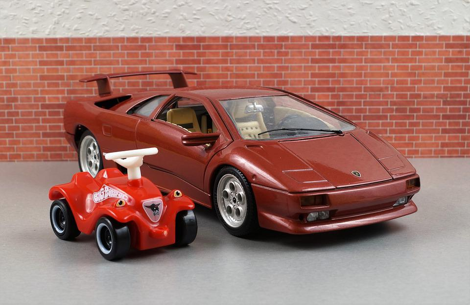 Model Car, Lamborghini, Diablo, Bobby Car, Vehicles