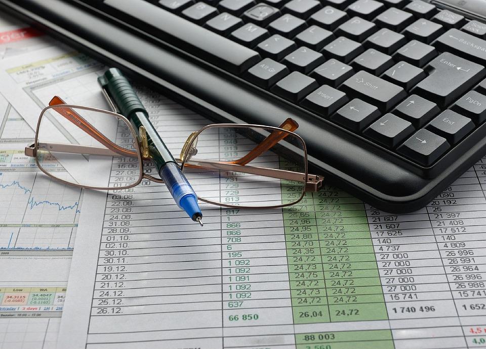 Keyboards, Glasses, Pen, Work Space, Financial, Diagram