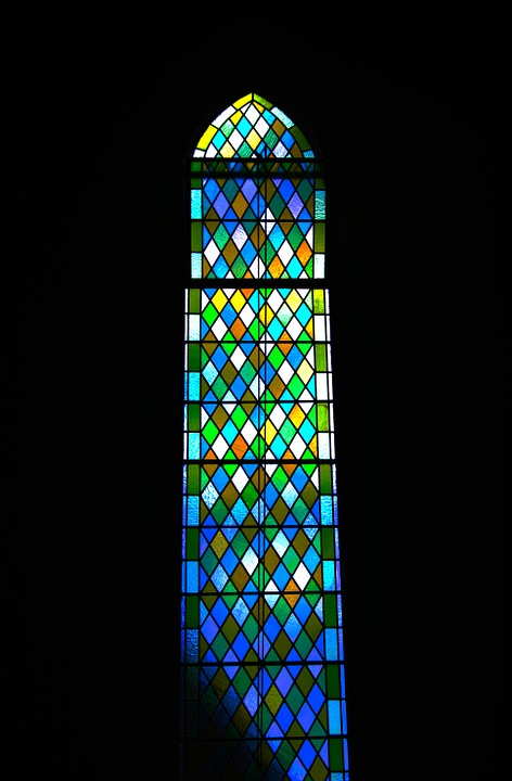 Church, Window, Stained Glass, Diamond, Colourful