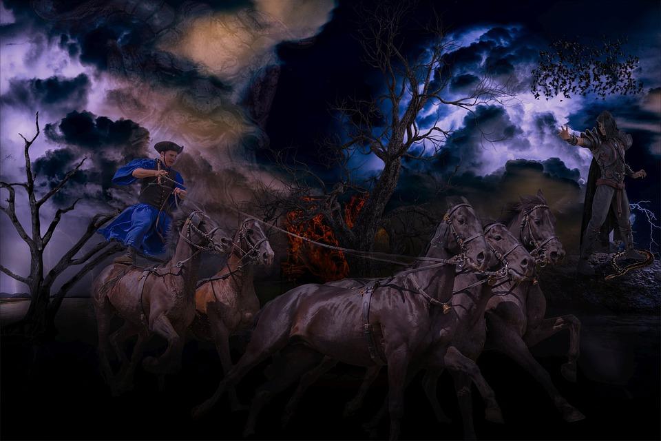 Background, Horror, Dark, Horses, Fantasy, Diamond