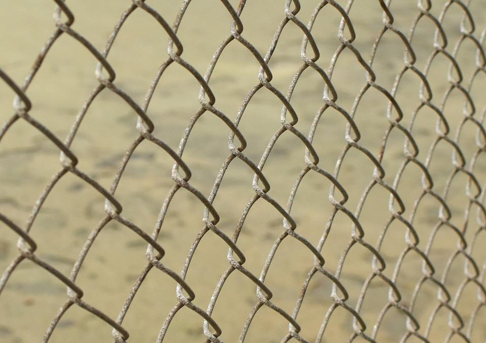 Chain Link, Metal Fence, Chain, Diamond Fence