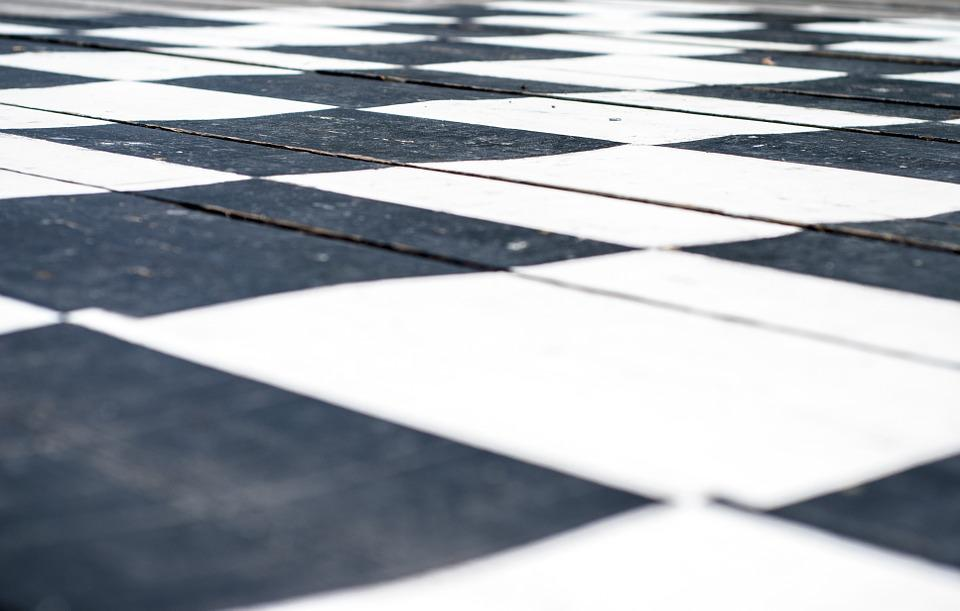 Chess Board, Chess, Black, White, Chess Piece, Diamonds