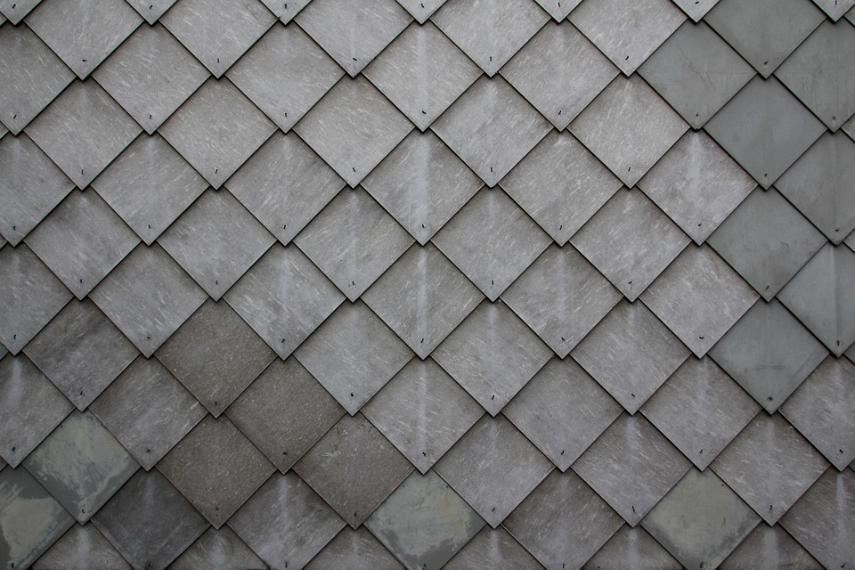 Shingle, Slate, Tile, Diamonds, Grey, Pattern, Wall
