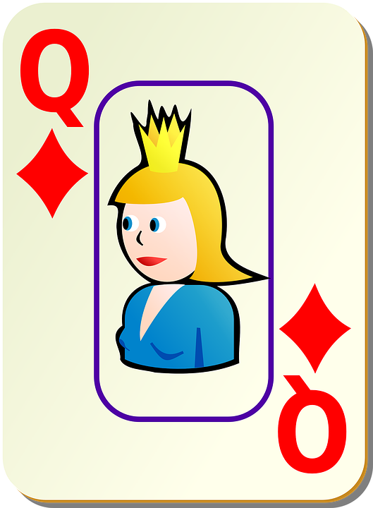 Diamonds, Playing Cards, Queen, Poker, Leisure, Playing