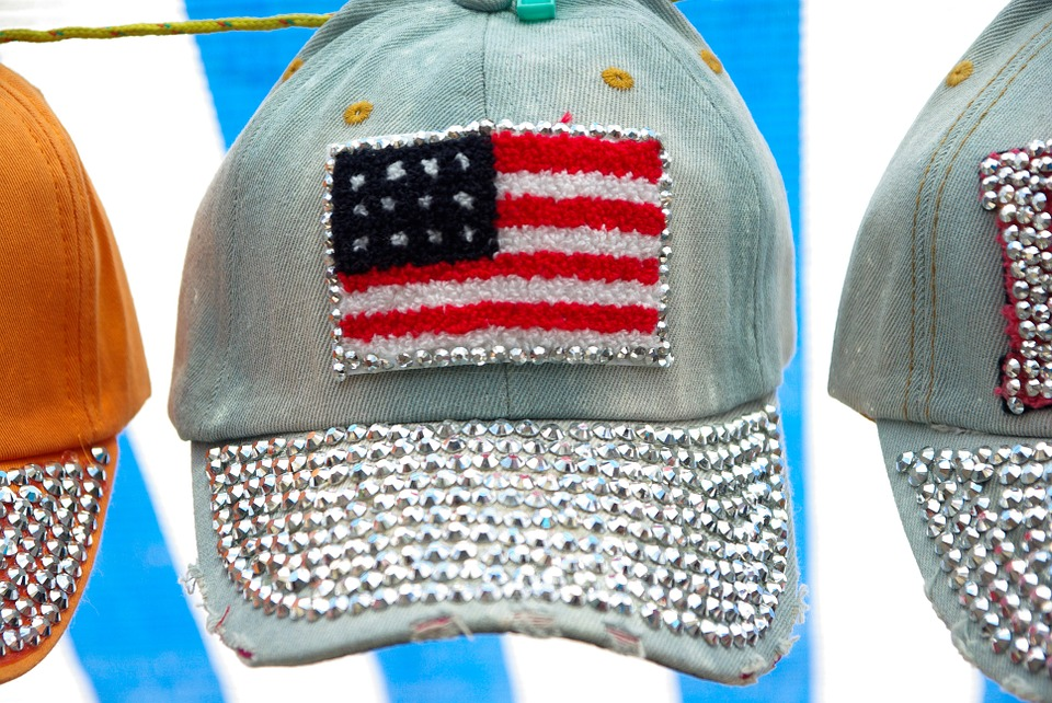 Caps, Usa, Flag, Diamonds