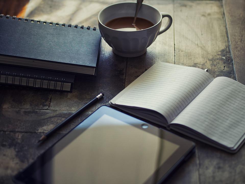 Diary, Ipad, Write, Blog, Workplace, Chocolate