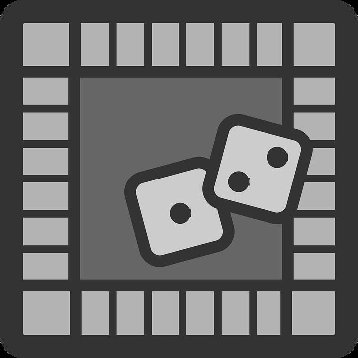 Monopoly, Die, Dice, Board, Game, Three, Grey, Squares