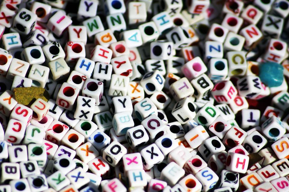 Letters, Dices, Cubes, Game