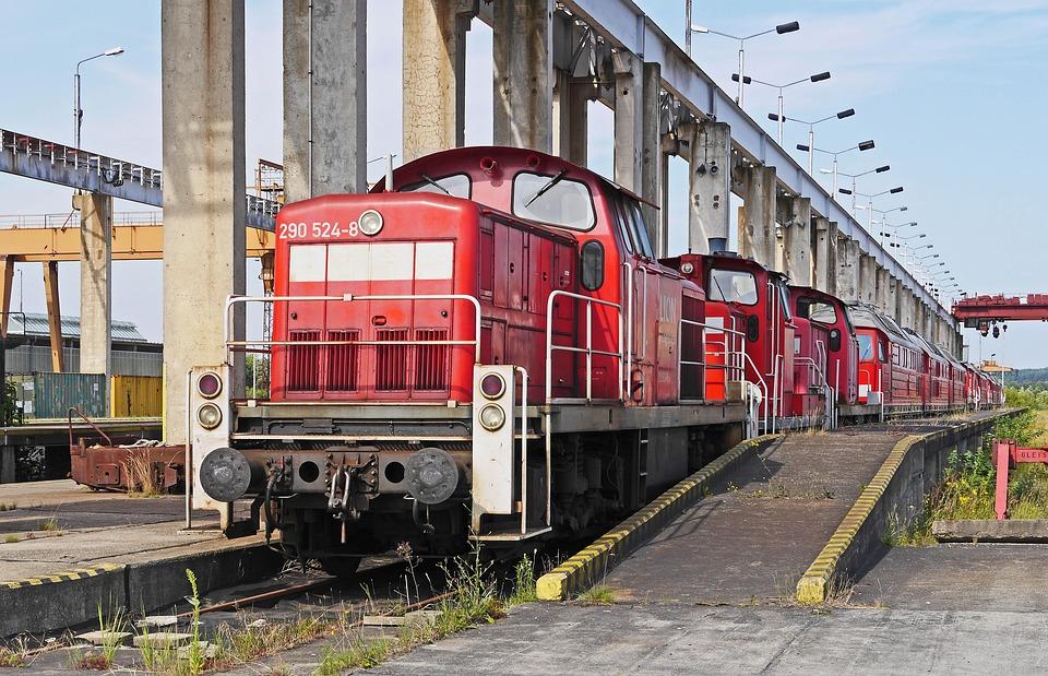 Container Plant, Shut Down, Diesel Locomotives