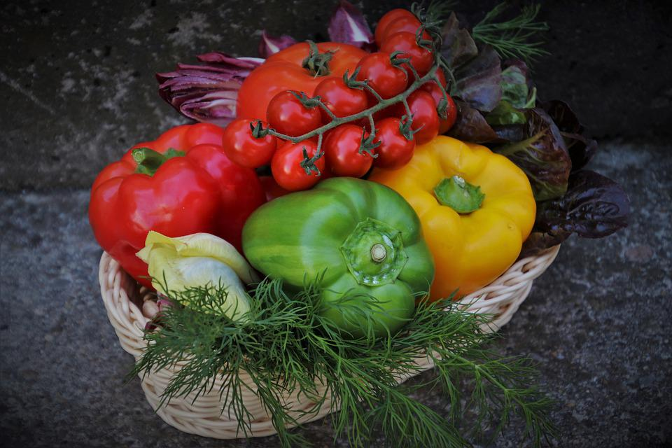 Shopping Cart, Vegetables, Diet, Raw, Bio, Colorful