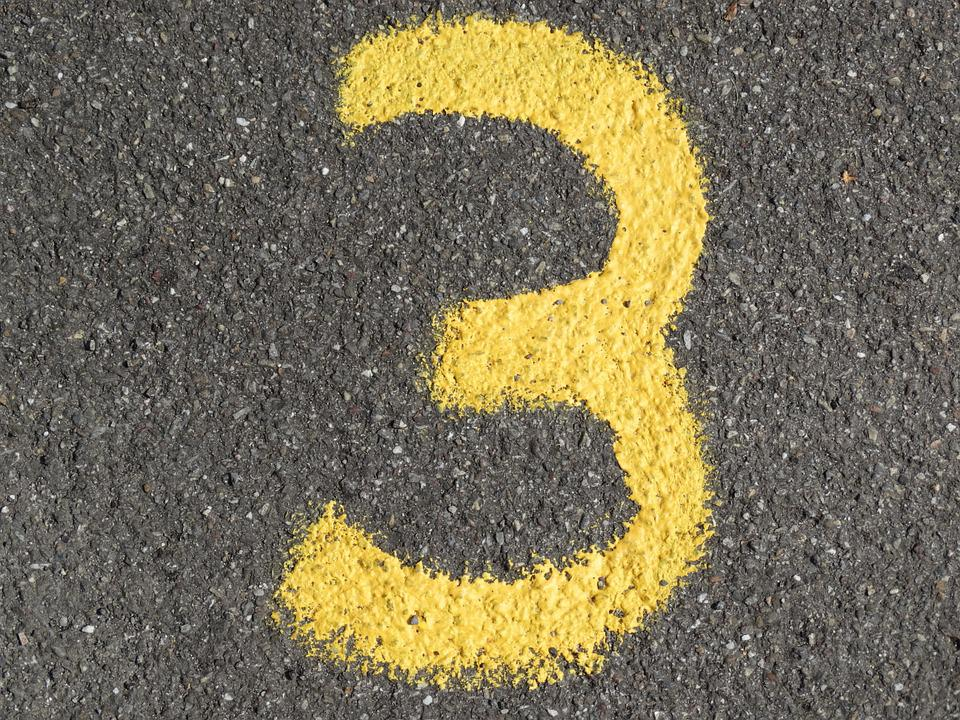 Number, Ad, Yellow, Color, Asphalt, Road, Digit