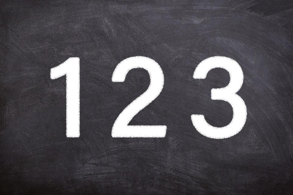 Education, Numbers, Writing, Blackboard, Digit