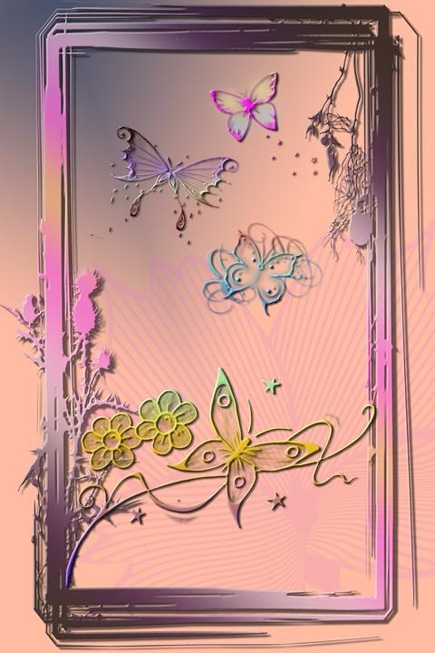 Digital Art, Artwork, Butterflies, Fantasy, Creation