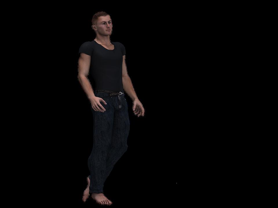 Man, Male, Person, Figure, Standing, Digital Art