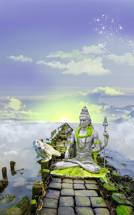 Shiva, Lord Shiva, Photo Montage, Digital Art, Mystical