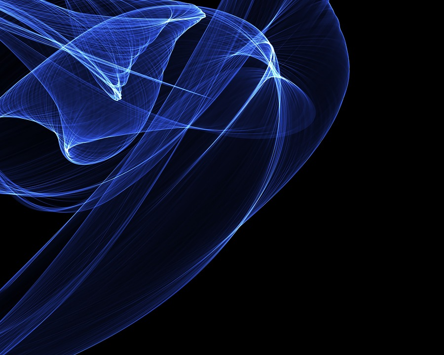 Modern, Art, Digital Art, Creative, Swirl, Ribbon, Blue