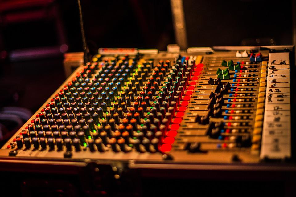 Panel, Equalizer, Digital, Play, Mixing, Mixer, Music
