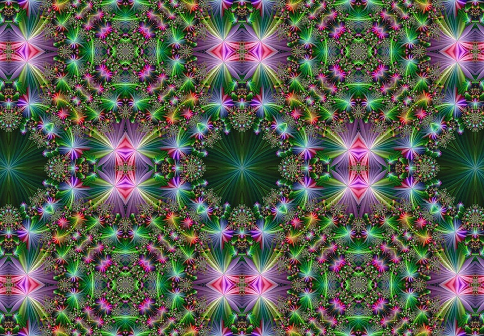 Kaleidoscope, Digital Kaleidoscope, Fractal, Mirrored