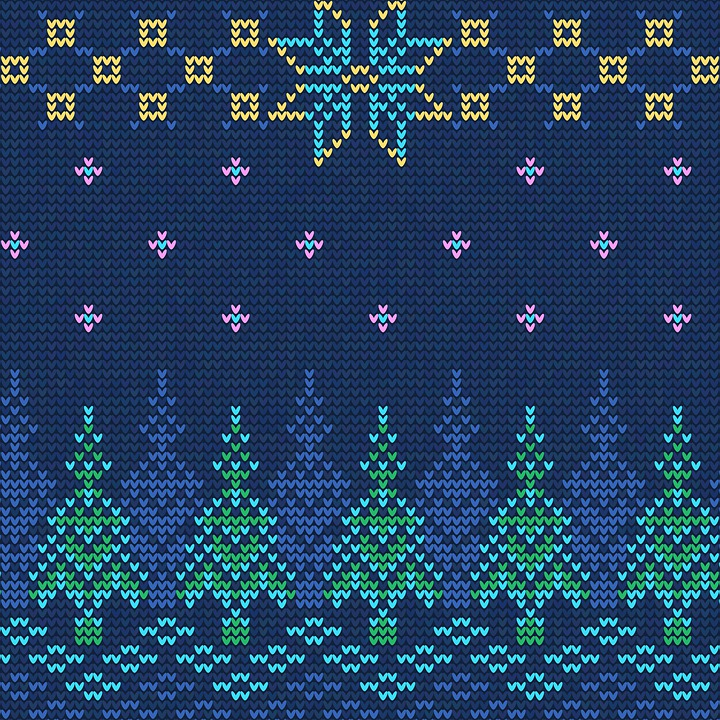 Christmas Knit, Digital Paper