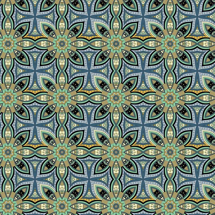 Digital Paper, Moroccan Pattern, Tiles, Ethnic