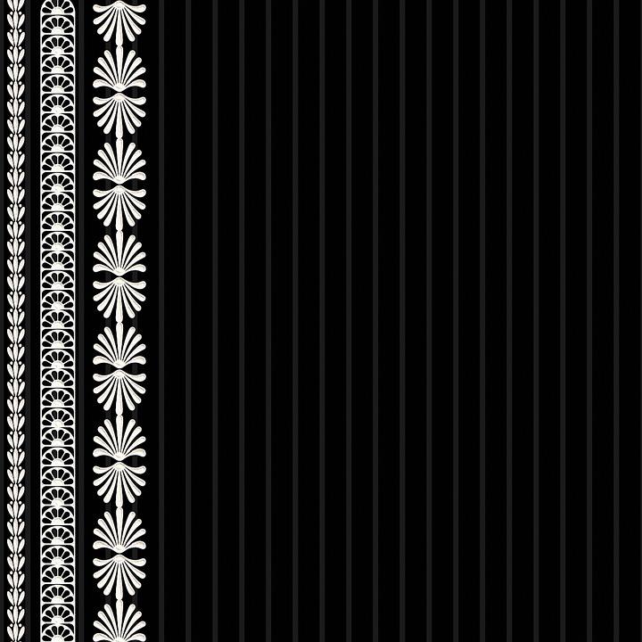 Digital Paper, Lace, Black, Vintage, Scrapbooking