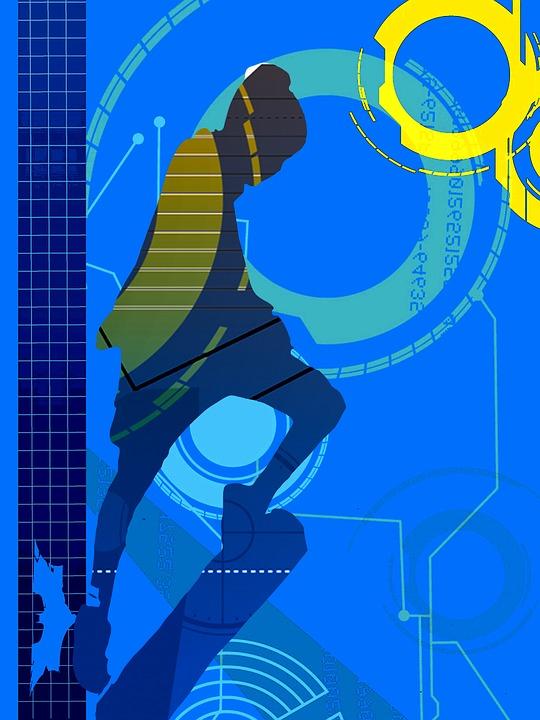 Abstract, Digital, Art, Skater, Skateboarder