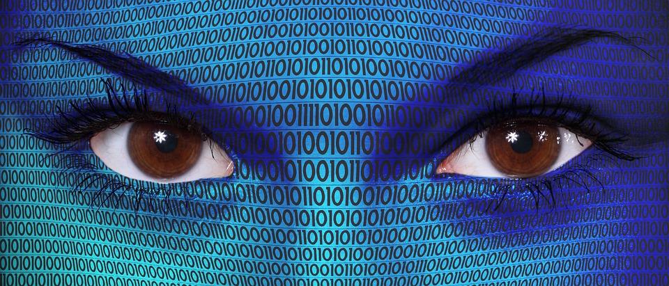 Woman, Technology, Binary, Computer, Code, Digital