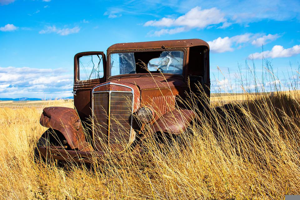 Truck, Rusty, Abandoned, Antique, Dilapidated, Old