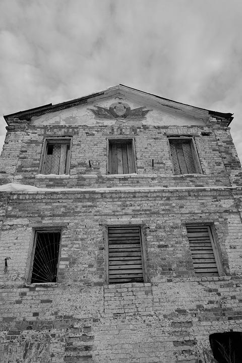здание, заброшенное, Abandoned, Dilapidated, Building